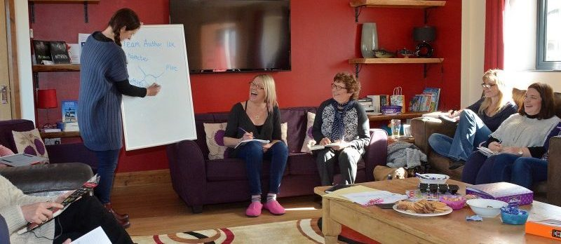 Writing Retreat run by author Jude Lennon and Team Author UK founder Sue Miller