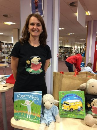 Author Jude Lennon, storyteller with Little Lamb Tales and Lamby